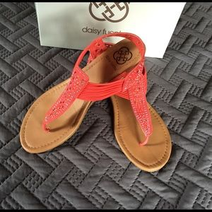 708845772ae Daisy Fuentes Coral colored sandal